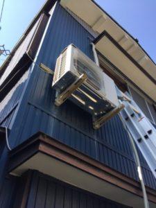 エアコン取り付け工事 室外機壁面工事 瀬戸