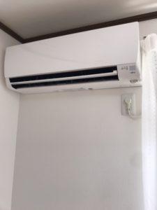 中古エアコン取り付け工事